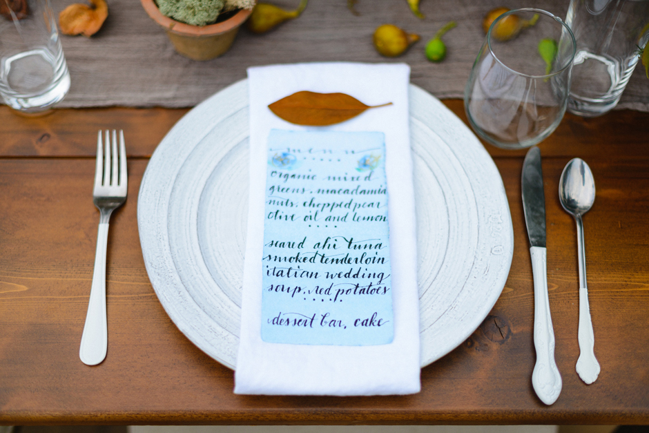 The Farm at High Shoals - Hand Written Reception Dinner Menu Ideas