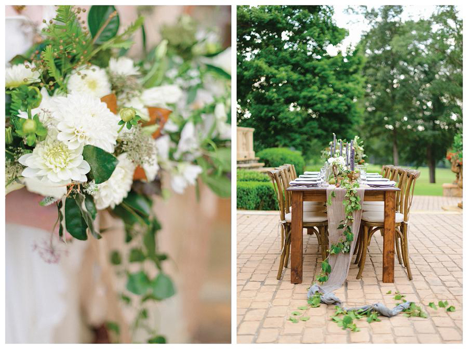 The Farm at High Shoals - Oconee Events Wedding Rentals - Natural Earthy Tabletop Ideas and Inspiration