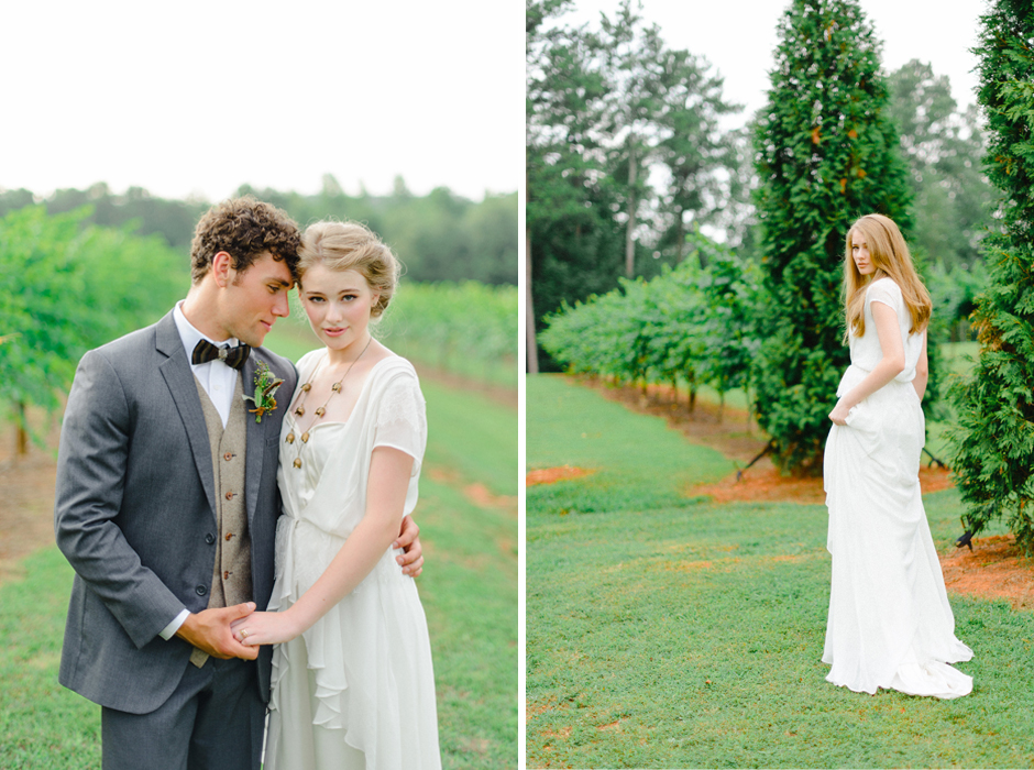 The Farm at High Shoals - Vineyard Wedding Ceremony and Bridal Portrait Ideas