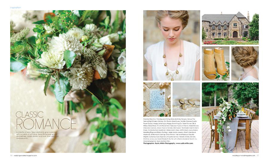 The Farm at High Shoals - Weddings Unveiled Magazine Feature First Cover