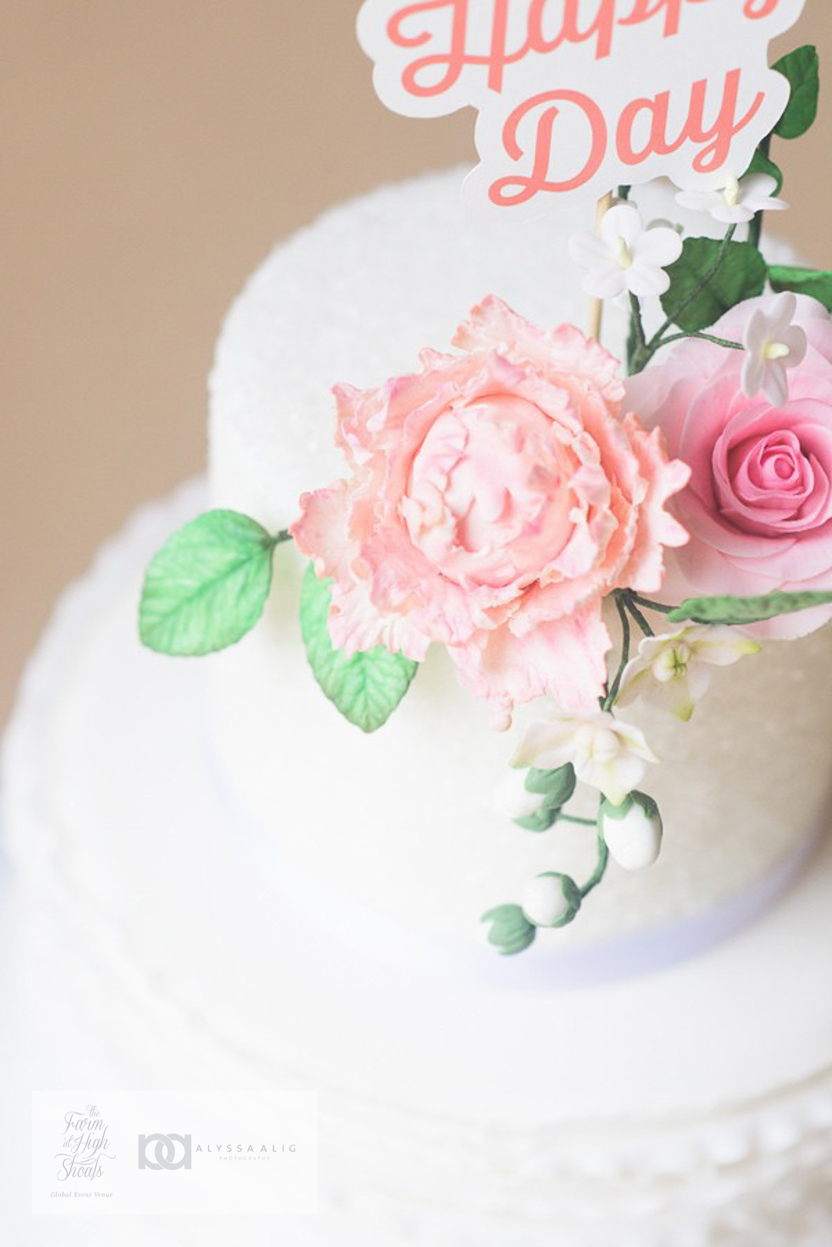 gorgeous wedding cake pink floral