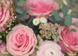 pink wedding floral inspiration