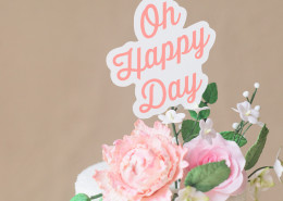 Oh Happy Day Wedding Cake sign