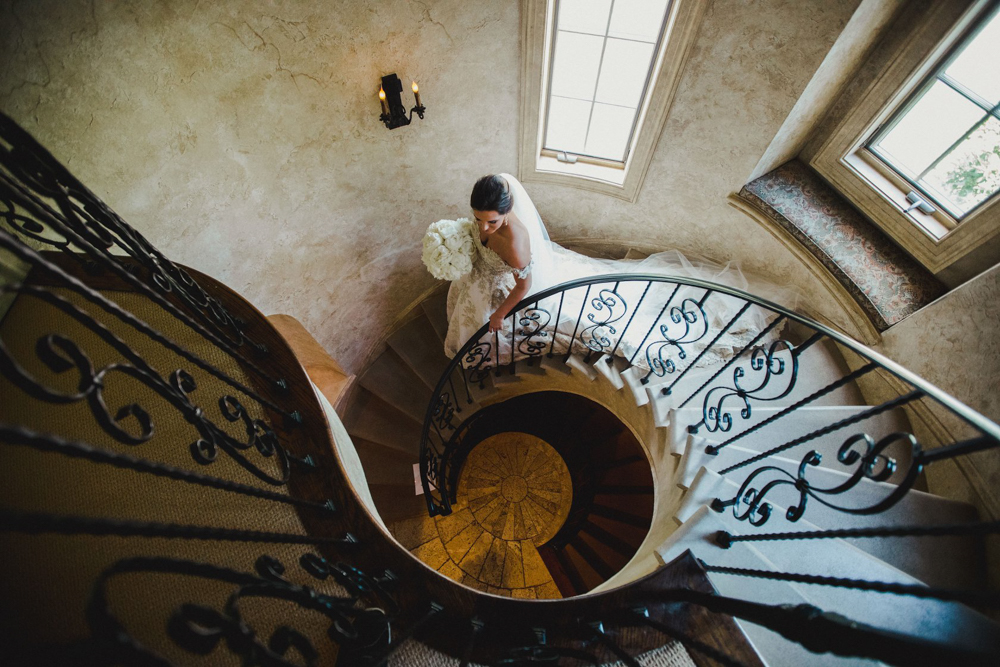 Wedding venue with spiral staircase